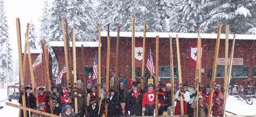 ski, Olympic games, competition, skiing, Plumas County, Plumas ski club, downhill racing, longboard, miners, mining, Gold Rush,